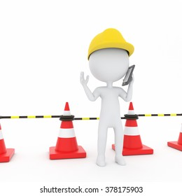 The person carrying out the contact in construction site