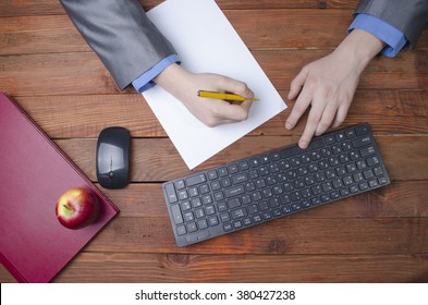 person at the computer