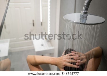 Mature women in communal shower