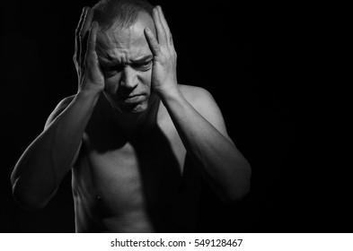 A person experiencing a severe headache.