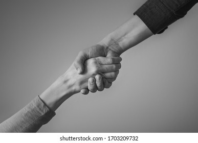 Person giving a helping hand.