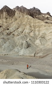Person in Golden Canyon, Death Valley National Park.