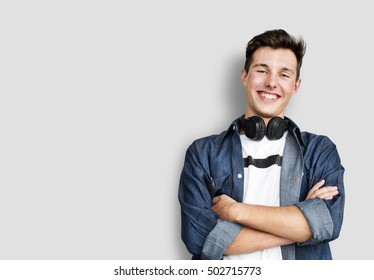 Person Listening Music Headphones Concept - Shutterstock ID 502715773