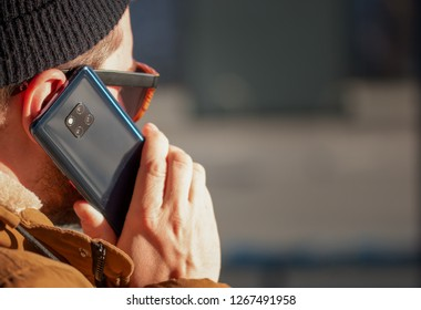 Person making a phonecall