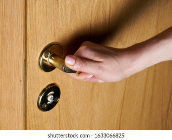 The person opens an interroom door