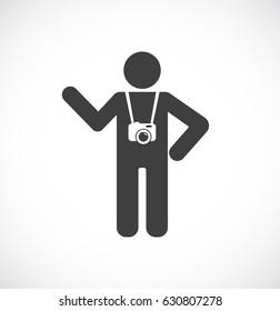 person photographer or tourist icon