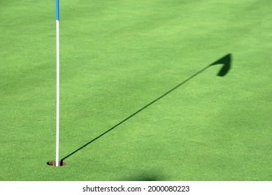 Person playing golf on the green grass
