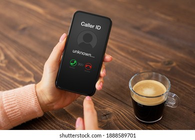 Person receiving a call from an unknown caller