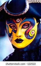 Person in a Venetian Carnival mask