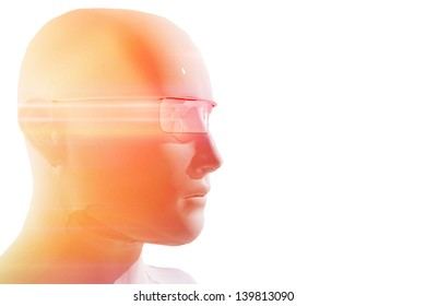 Person with virtual reality glasses