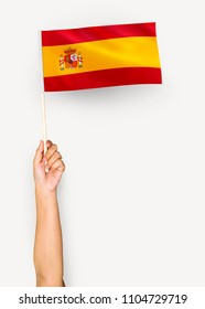 Spain Asturias Small Hand Waving Flag