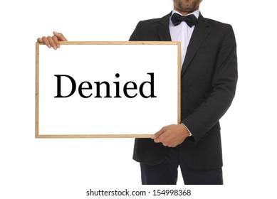 Person with a white board