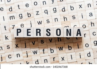 Persona word concept on cubes