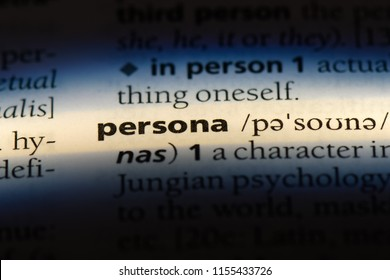 persona word in a dictionary. persona concept.