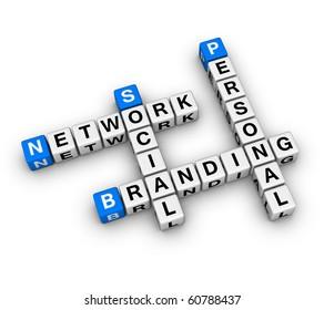 Personal Branding Social Network (3D crossword series)