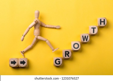 Personal development, personal and career growth, progress and potential concepts. Business growth concept.