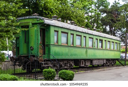 Personal green train wagon of dictator Joseph Stalin in his birthplace Gori, Georgia