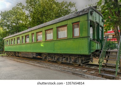 Personal green train wagon of dictator Joseph Stalin in his birthplace of Gori, Georgia.