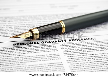 Personal Guaranty Agreement Stock Photo Edit Now 73475644
