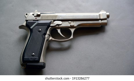 Personal gun pistol revolver at home for private security