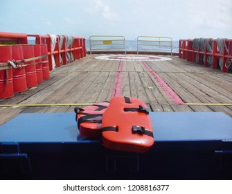 Personal life support flotation safety device (life jacket, life vest, work vest, life saving, buoyancy aid or flotation suit) for marine personnel working on boat deck or area exposed to sea