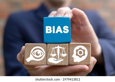 Personal opinions prejudice bias. Concept of facts and biases.