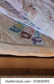 Personal savings, hungarian money, under the bed sheet