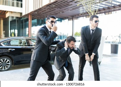 Personal security agents in action saving entrepreneur from getting kidnapped