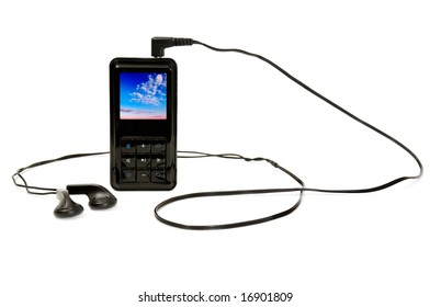 personal stereo isolated on a white background