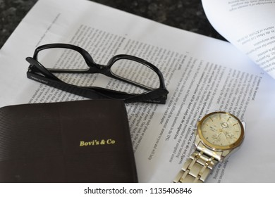 personal stuff (glass&wrist watch),16july2018,dhaka,Bangladesh