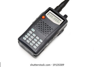 Personal Transceiver (Walkie-talkie). Isolated on white background.
