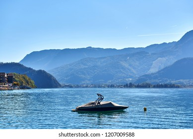 Personal watercraft (PWC), also called water scooter on the Lake Wolfgangsee