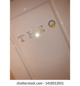 Personalised Door, Nursery Decor, Baby room