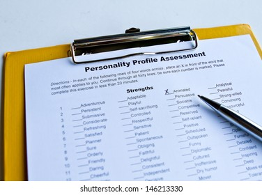 Personality Assessment Form
