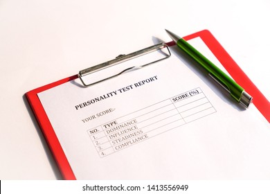 Personality test or assessment form as part of job interview screening process. An employment or hiring concept