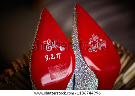 4026ca25b0207c Personalized Bridal Wedding Shoes Karachi Pakistan Stock Photo (Edit ...