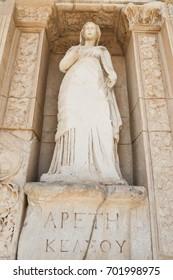 Personification of Virtue, Arete Statue in Ephesus Ancient City, Izmir, Turkey
