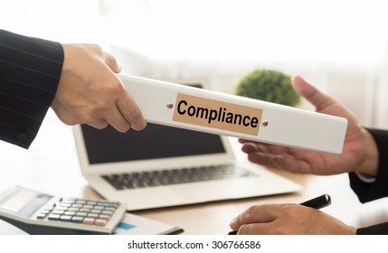 personnel send files manual compliance to manager in office.