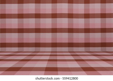 Perspective backdrop of red silk or cotton fabric with tartan or plaid style. It is lightweight and comfortable. This design typically can be found easily around Thailand.