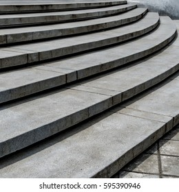 Perspective of Curve Concrete staircase