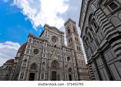 Perspective of Florence Cathedral in Italy