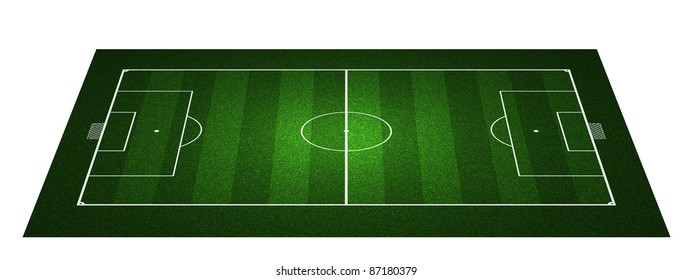 Perspective Football field