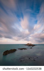 perspective to fort national of saint malo