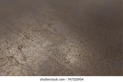 Perspective Metal Texture 3D Illustration, Rust Floor Background