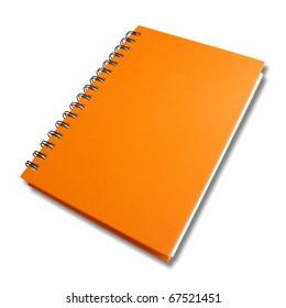 perspective orange note book