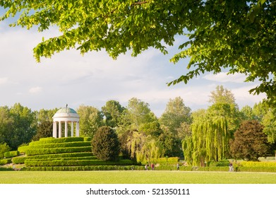 Perspective of the small temple in Querini Park, Vicenza