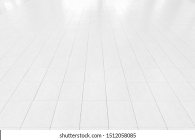 Perspective tiles floor deck overlook the white background. Services include product display  template