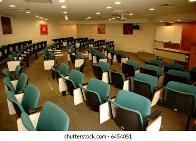 The perspective view of a conference room