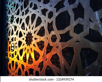 Perspective view of a copper cladding with south east asian malay design influence