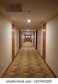 Perspective view of a corridor